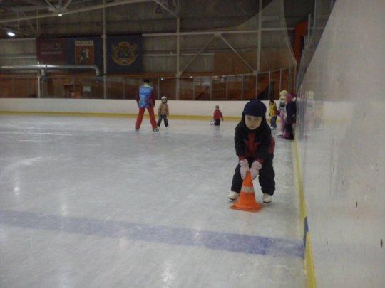 Kostya on figure skating training