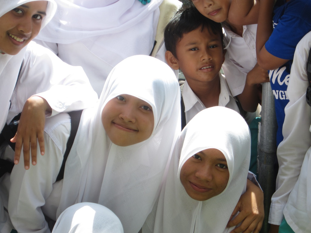 Students at Sukma Bangsa in Pidie, Aceh, Indonesia
