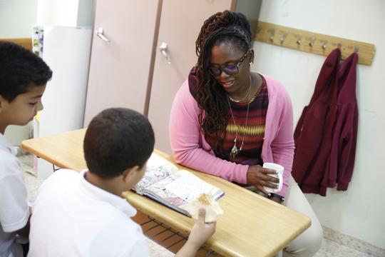 Ms. Dixon teaches in Ramallah