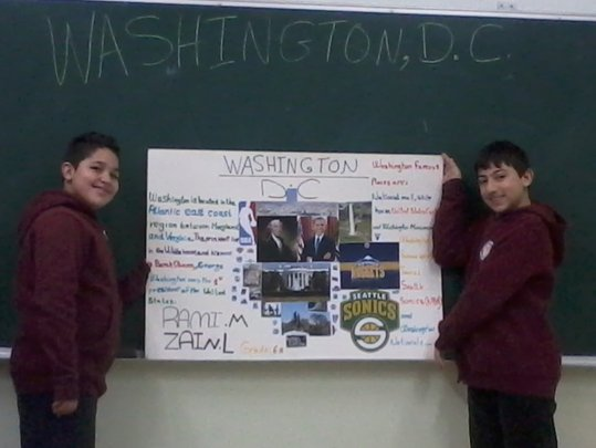 Palestinian 5th Graders present their projects