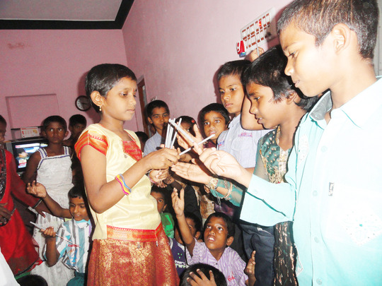 Diwali Celebrations with Orphan Children in Kurnoo