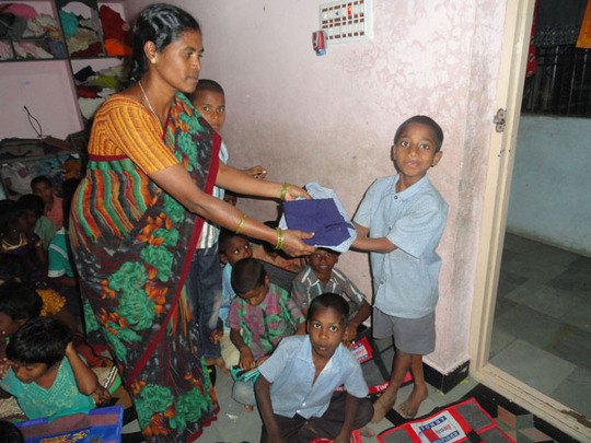indian orphan children at joy home for children