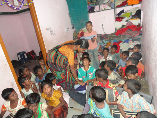 street and orphan children progressing in studies