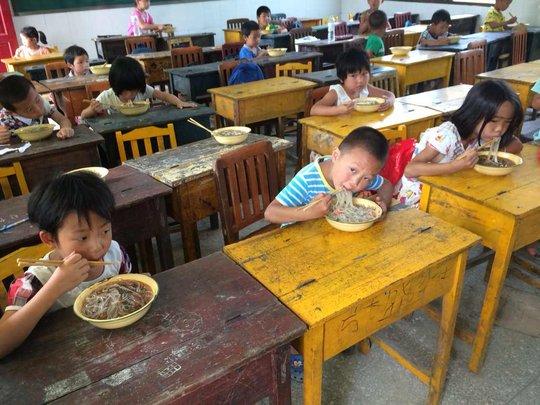 Children at Xiping Elementary School,Sangzhi,Hunan