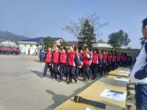 Students with new uniform