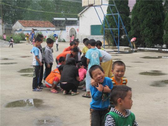 children playing between classes