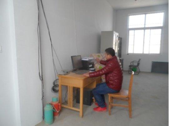a teacher using the new printer