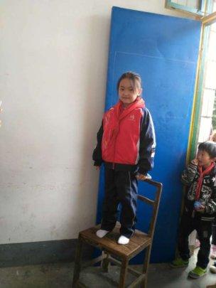 a student wearing her new school uniform