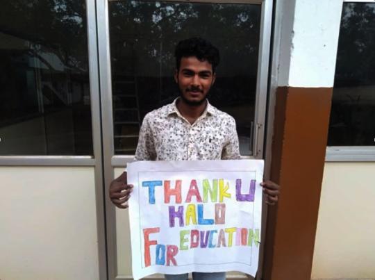 Satish in college