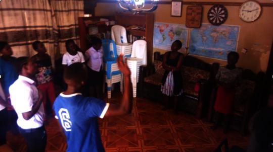 HALO gathering at the Uganda Learning Center