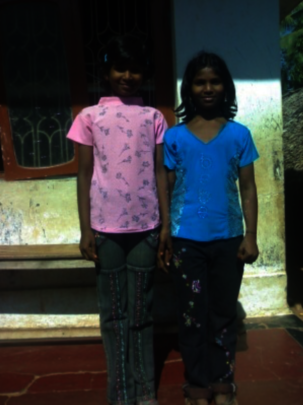 Sivani (on the right) with her sister years ago