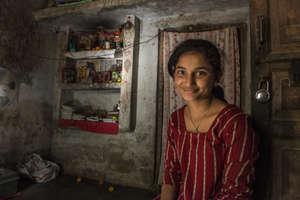 Manju in her home