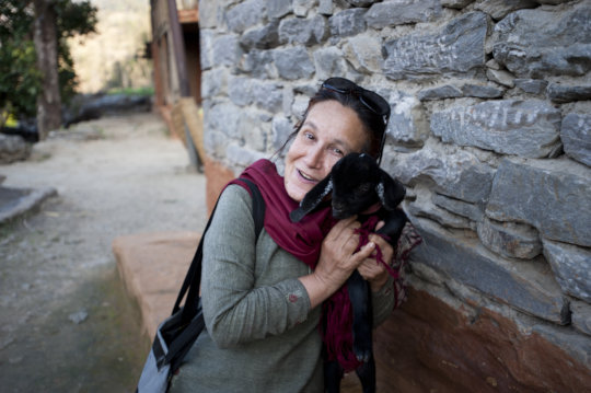 Bonus photo of Aruna with a baby goat!