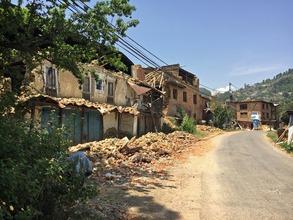 destruction in Bhatapur