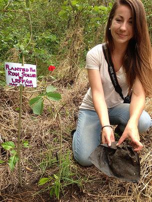 Gretchen Engbring, planting for Ryan Stallard