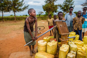 A borehole in Uganda. Photo by Rudi Dundas.