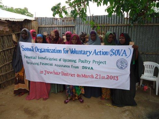 Improve the livelihood of 50 widows in Somalia