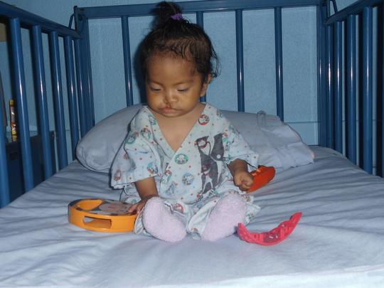 Vidalia before her surgery