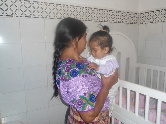 Vidalia and her mother at health center