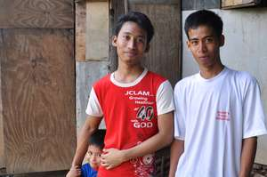 These brothers are among those affected by floods