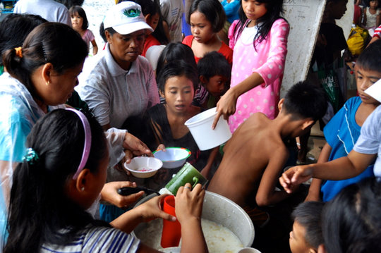 Hot meals are lifeline for evacuees