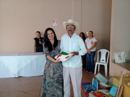 Mr. Miudo at the launch of the handmade book