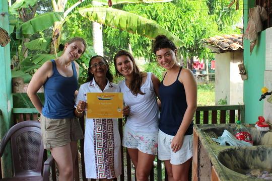 Vaga Lume educators with Ms. Edna