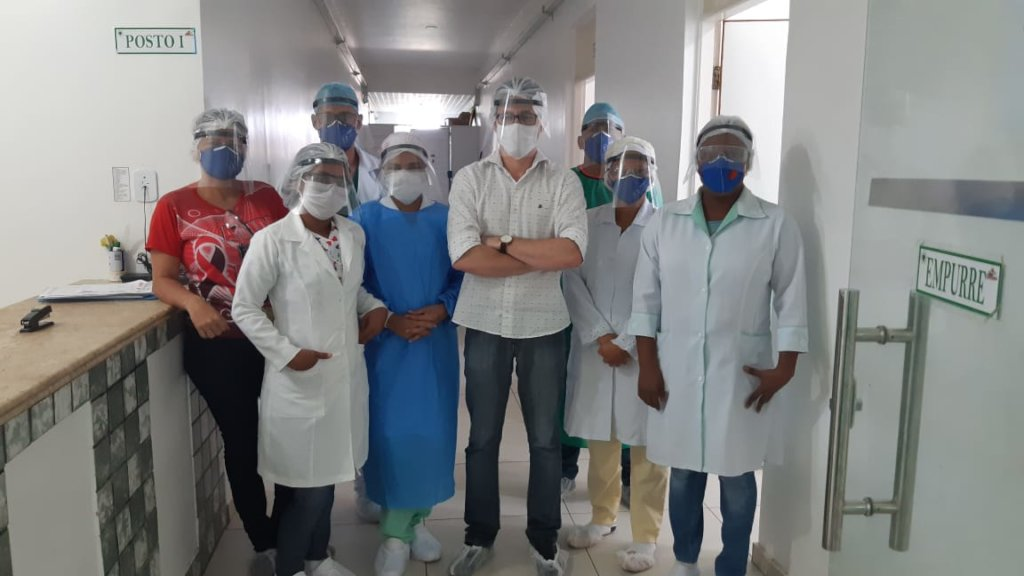 Acetate masks donated to Cururupu (MA) health unit