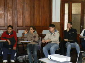 Deaf and hearing students attending class