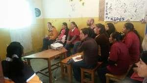 weekly team training at Proyecto Horizonte