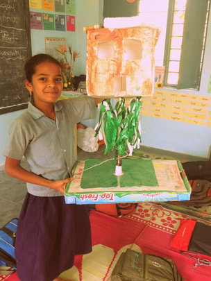 Priya* and her group's project - Tree House
