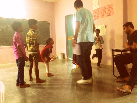 Students with their acting coaches from Samahaara