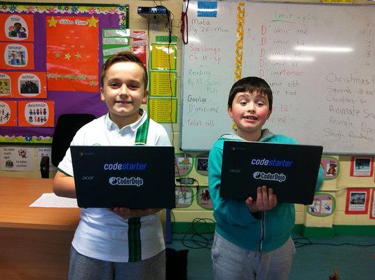 Nathan & Evan with their CodeStarter Laptops