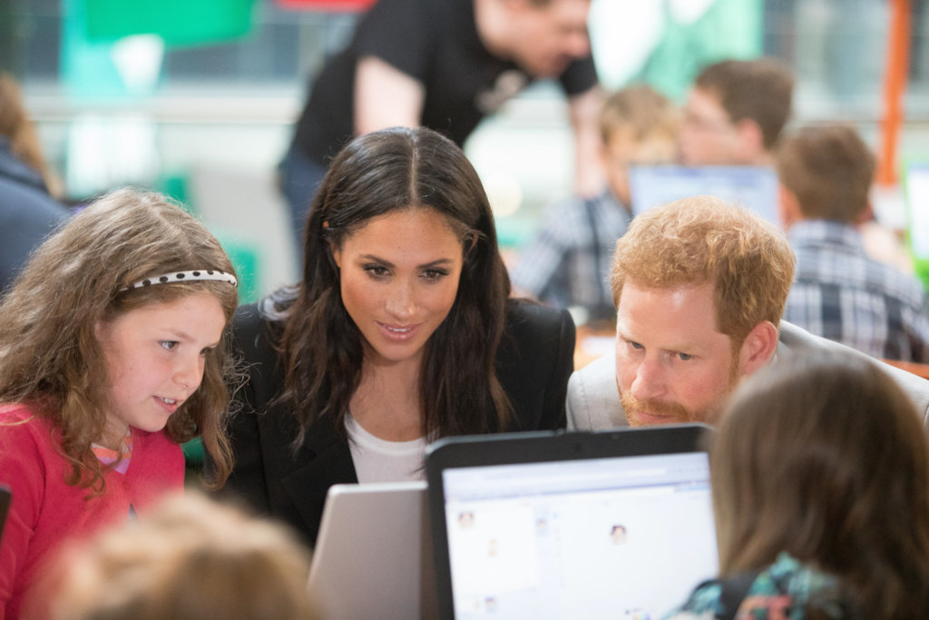 The Duke and Duchess of Sussex visiting CoderDojo