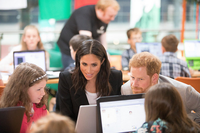 The Royals Visit CoderDojo