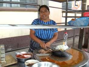 Dona Luisa and Her Food Cart