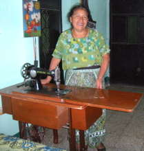 Isabela Chachal and her Sewing Machine