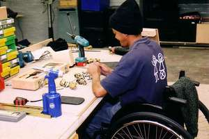 The wheelchair workshop at HQ in Cape Town