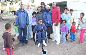The wheelchair center team in Zimbabwe