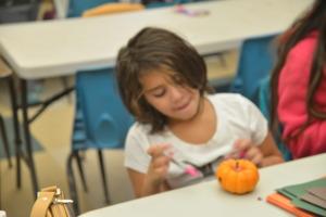 Pumpkin Decorating was Fun!