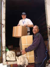 Delivering supplies to those in need