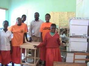 Students with the Agricultural Teacher Mr.Omondi