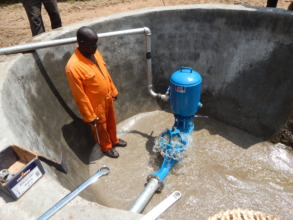 Building wells and installing pump