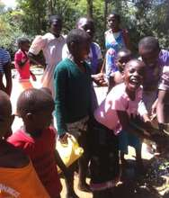 Children enjoying the first day of tap water