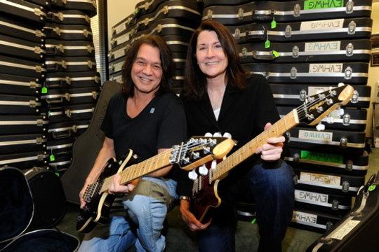 Eddie Van Halen with MHOF CEO Felice Mancini
