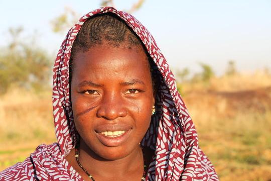 Gardener in village of Djonga