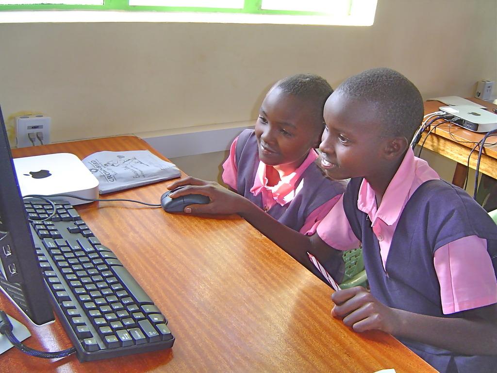 Kituiu PS learning 21st century skills at the LRC