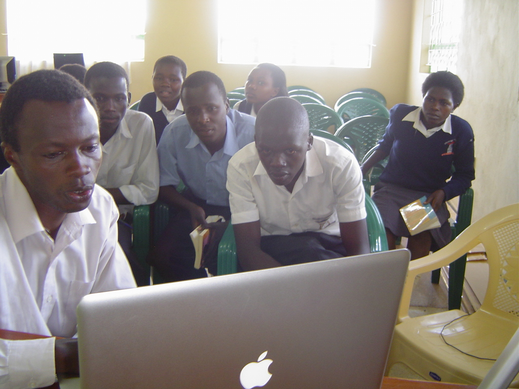 Nyaani bookclub at a flopped skype session at LRC