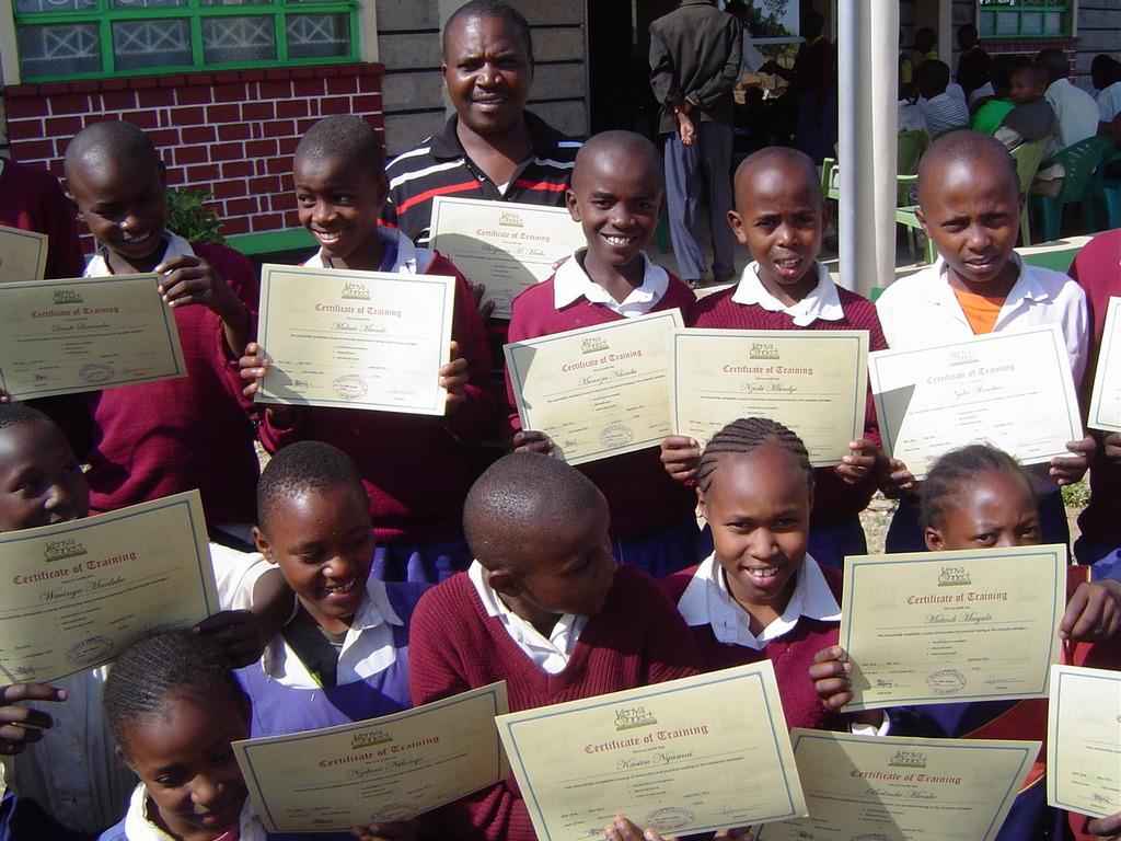 Kambiti students during a past graduation ceremony