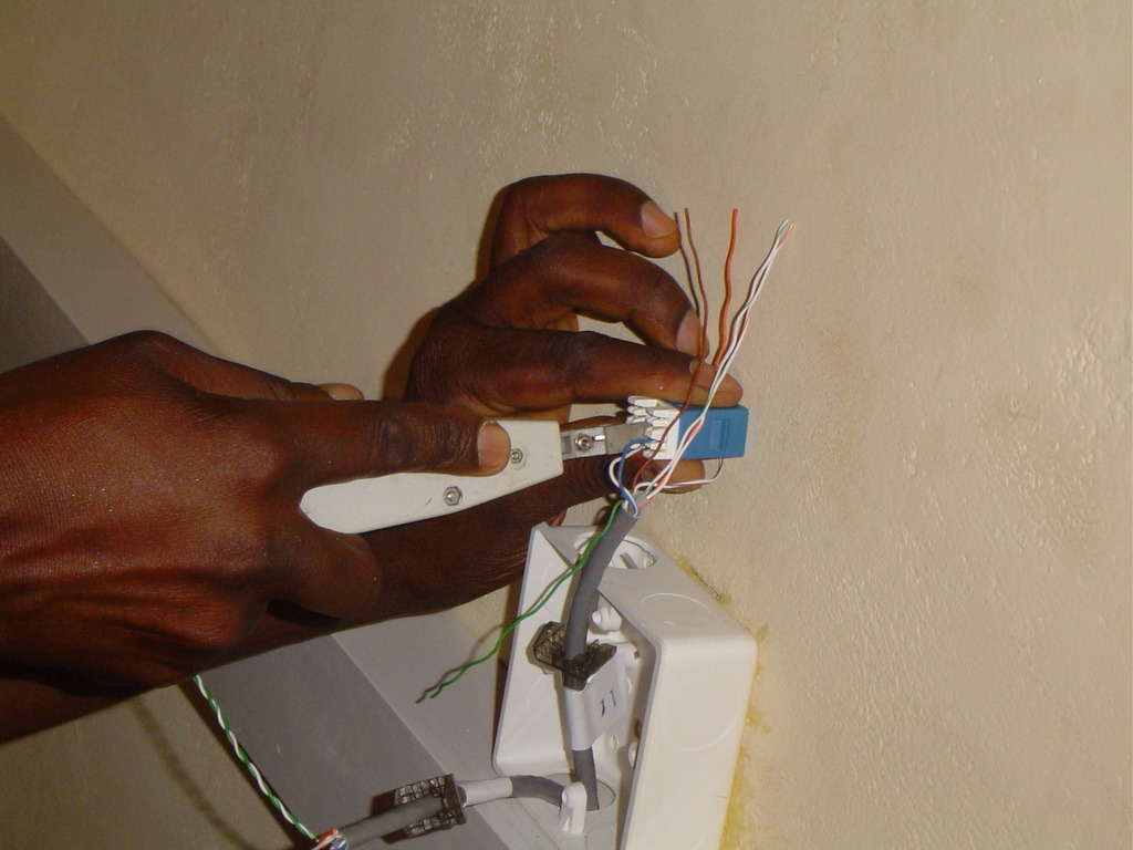 Terminating the cables with modules